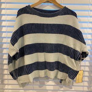 🆕🏷 vintage Havana blue knit sweater medium
